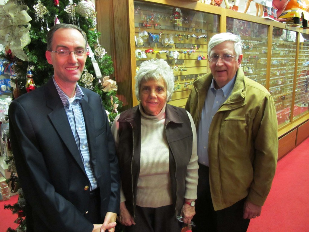 David Hamrick curates the collection in The Party Shop owned by parents Dorothy and Norm Snyder