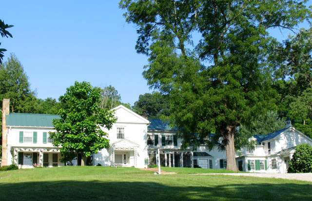 "The Malabar Farm ""Big House,"" the home of writer, conservationist and host of Hollywood stars Louis Bromfield. (All photos copyright Kath Usitalo)"