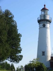 Seul Choix lighthouse on Lake Michigan in the Upper Peninsula