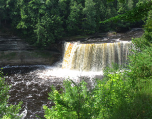 Tahquamenon Falls, Michigan's largest, are in the Eastern Upper Peninsula