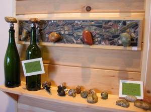 Wine corks and other useful items made with Great Lakes rocks