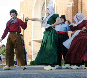 See free street dancing during Tulip Time, May 4-11