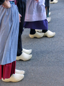 You can find wooden shoes for sale throughout Holland