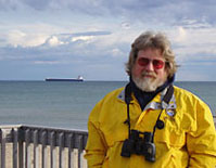 Lee Murdock at Whitefish Point on Lake Superior (Lee Murdock photo)