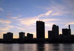 Toledo skyline at dusk