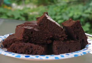 Delish Moosewood Brownies; see link to recipe below
