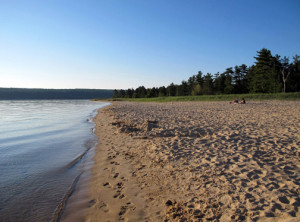 Beach you won't have trouble finding a kite-flying spot, like Sand Point Beach on Lake Superior near Munising