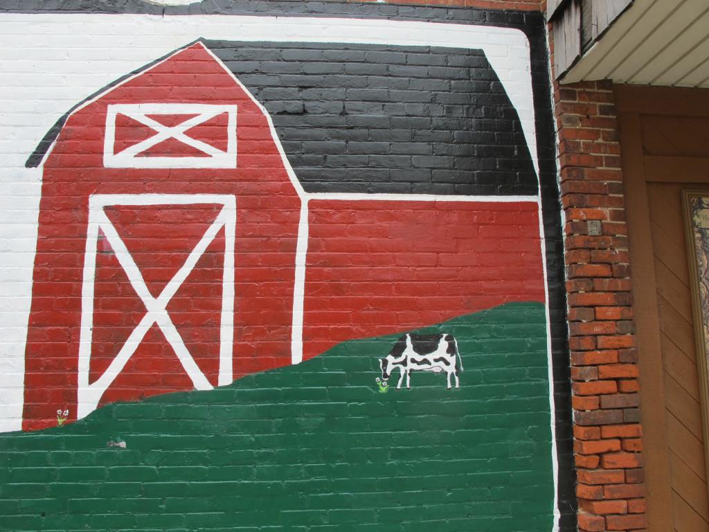 A mural in beautiful downtown Elsie