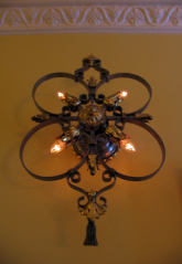 A hall wall sconce