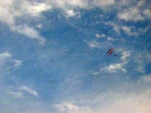 High-flying flag kite