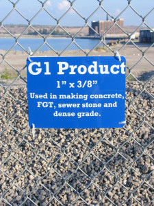 Learn Your Limestone: There are heaps of various grades of product with informative signs around the perimeter of the viewing area