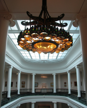 Louis Comfort Tiffany chandelier from the New York City home of Henry O. Havemeyer, circa 1890