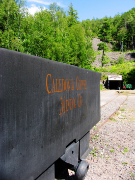 Caledonia Mine is in a remote and beautiful spot on the Flintsteel River valley