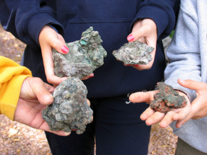 The family that picks rock together... treasures from Caledonia Mine