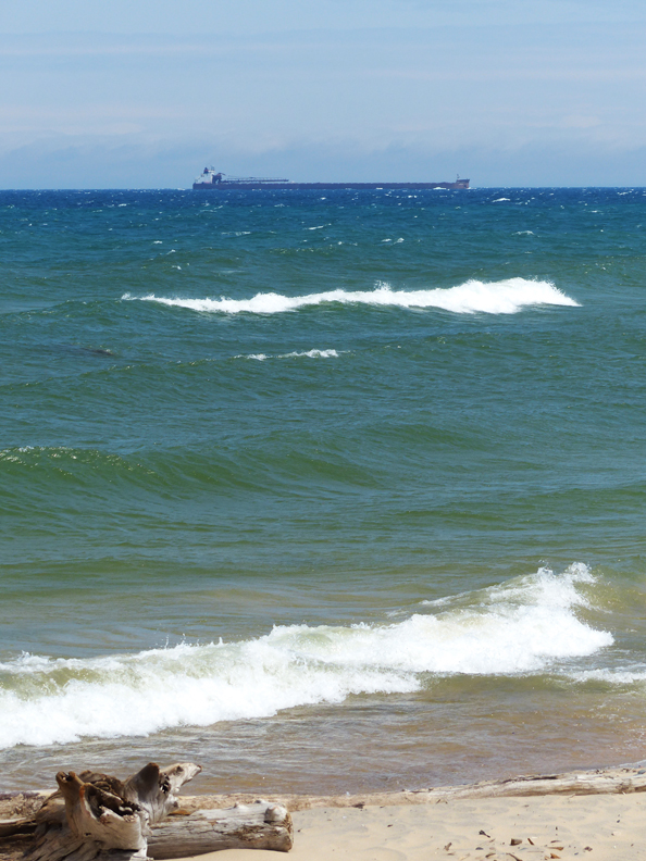 The 1,004-foot James R. Barker off Whitefish Point, Lake Superior, Upper Peninsula