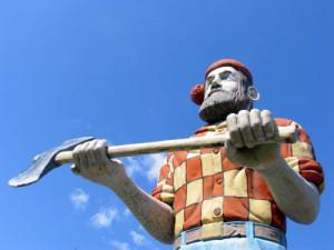 Meet legendary woodsman Paul Bunyan in Manistique