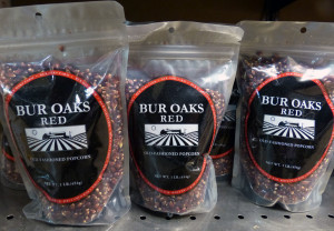 Bur Oaks Red Popcorn is available at the Marquette Food Co-Op