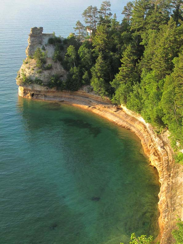 Several years ago Miners Castle, Pictured Rocks landmark, lost part of its distinctive tower to erosion