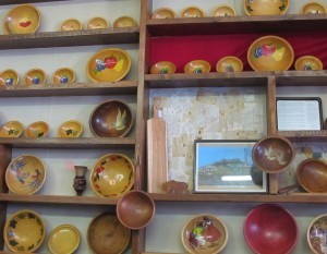 Examples of the vintage household goods at Munising Wood Products