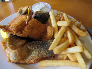 Worth the wait: Fresh-off-the-dock trout fried in a secret-recipe batter at the Navigator