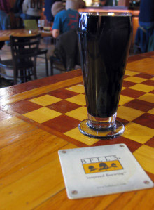 I had the seasonal Cherry Stout at Bell's Eccentric Cafe