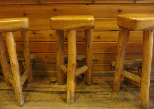 Pull up to the counter on a rustic stool at Falling Rock Cafe