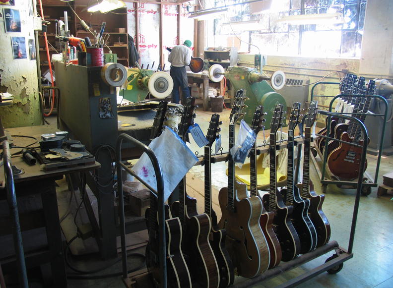 Heritage Guitars are handcrafted in a former Gibson Guitar building