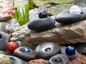 In an artist's garden, Upper Peninsula