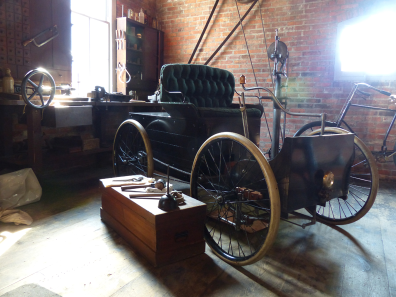 See the humble garage where, in 1896, Henry Ford built his first horseless carriage