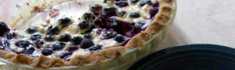 Finnish Blueberry Yogurt Pie