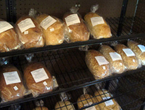 The bread selection varies, but they're all delish