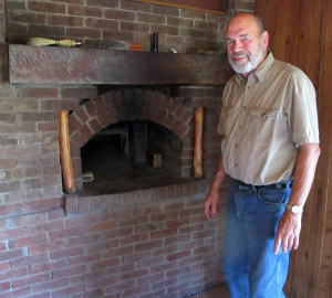 Paul built the wood-fired brick oven