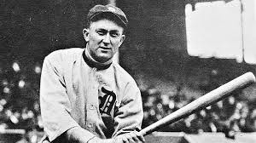Ty Cobb played 22 seasons with Detroit (archive photo)
