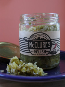 A little of this crisp, zippy and natural relish goes a long way