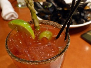 The tasty Bloody Mary, with house-made vegetable juice, would be a good start to the upcoming tomato dinner