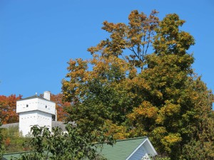 Fort Mackinac tower overlooks the town