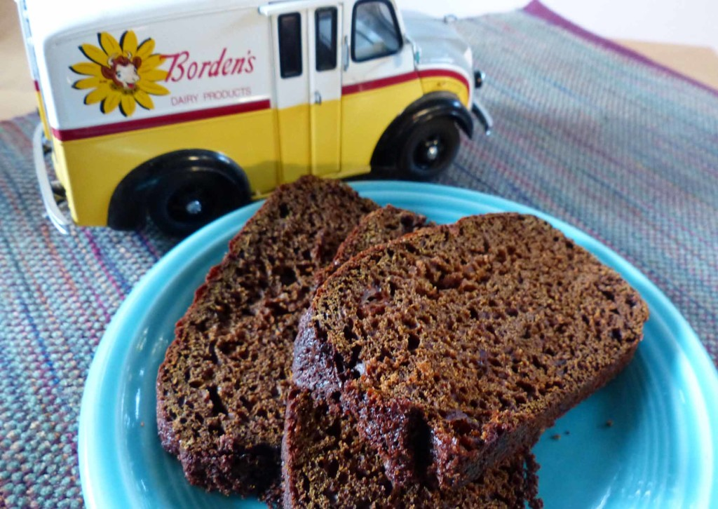 Try this applesauce and molasses bread with a glass of cold milk