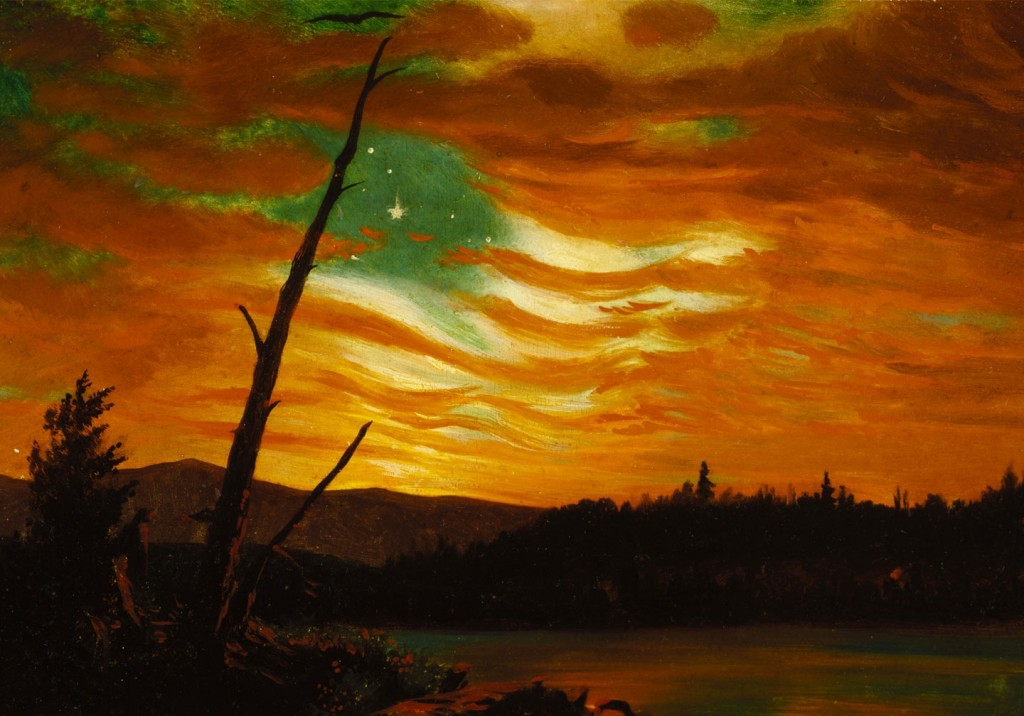 """""""Our Banner in the Sky"""" by Frederic Church is one of about 100 items in the Newberry Library's new exhibit"""
