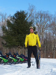 X-C skiers and snowmobilers were out enjoying the weather