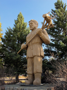 I was lucky to travel through Minnesota and visit the St. Urho statue in Menahga