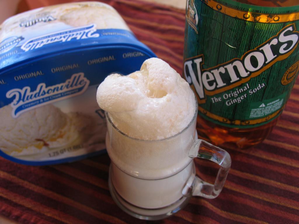 Detroit's own Vernors + Michigan's Hudsonville vanilla ice cream = Boston Cooler