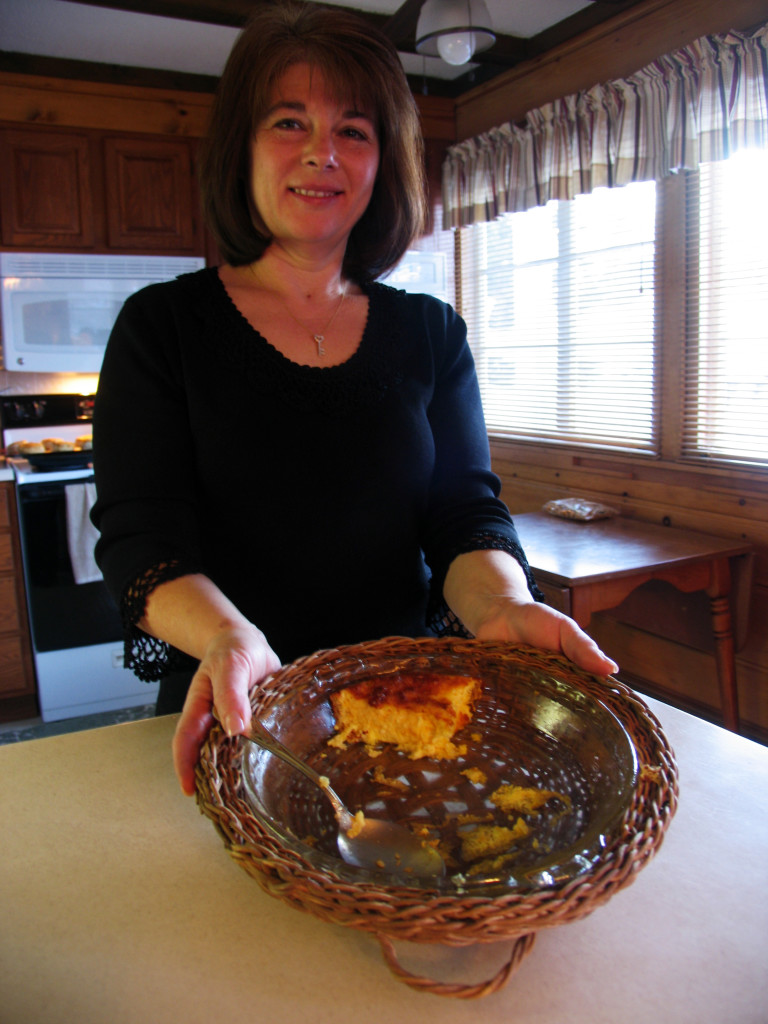 Cheri and what remained of her famous breakfast dish