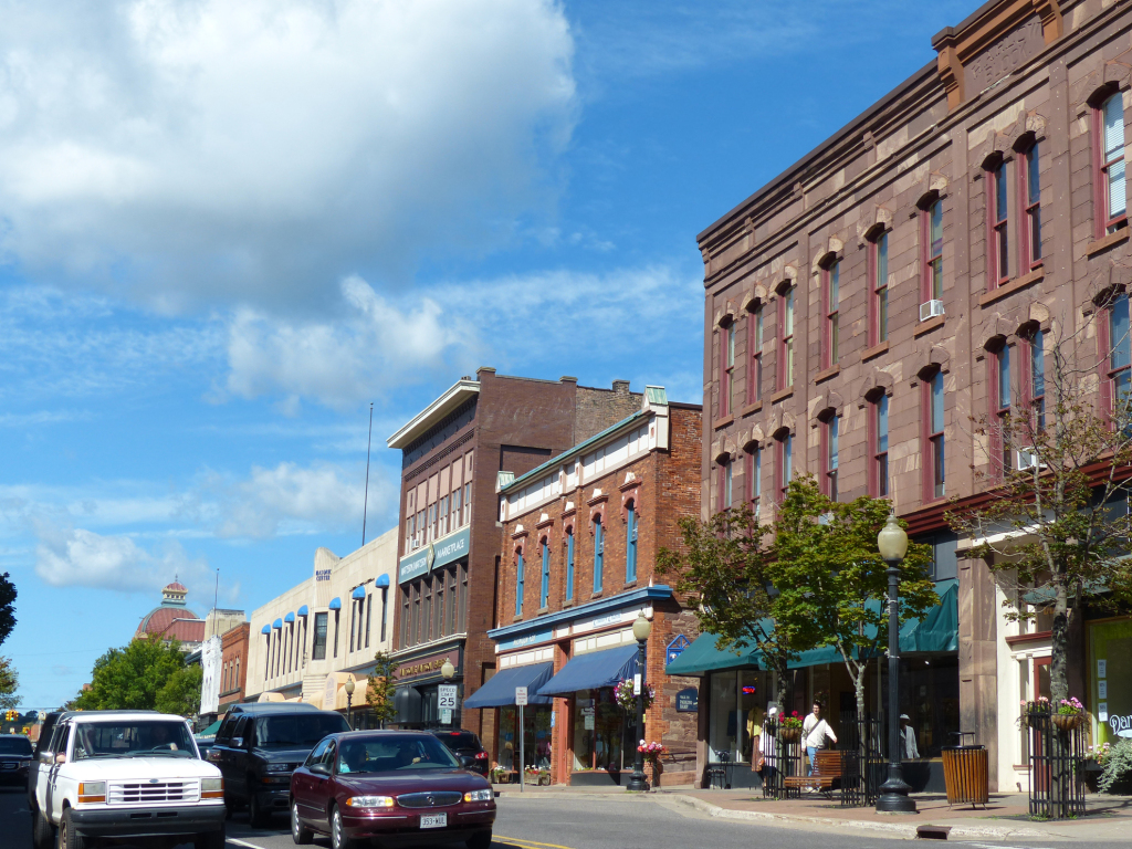 Downtown Marquette, the largest city in the U.P. and location of the Presque Isle Power Plant