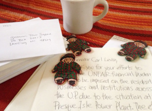 WE CANNOT BEAR THE COST! TJ and I sent a dozen handwritten notes with little bears my mom had cut out years ago. I knew they'd come in handy one day!