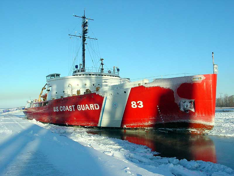 The Mighty Mackinaw, one of the U.S. Coast Guard's most powerful icebreakers, is now a museum (Great Lakes Magazine photo)