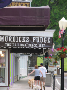 You don't have to stroll far for free fudge samples on Mackinac Island