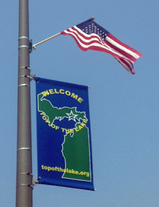 TOLCA Banner and flag_0987