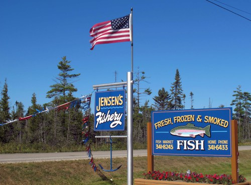 Make the slight detour off US-2 at Manistique for fresh and smoked fish at great prices