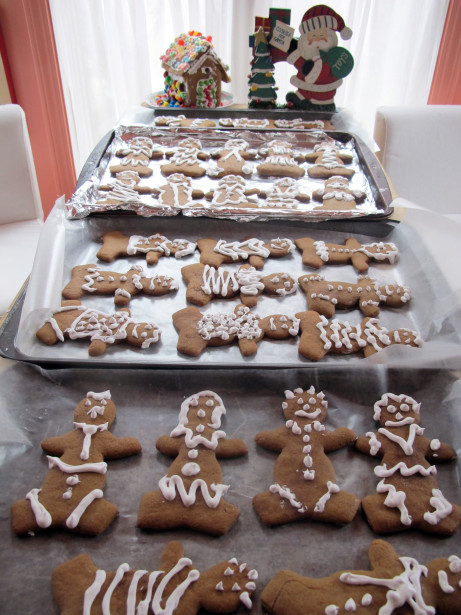 This recipe makes a village of gingerbread people