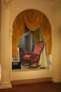 The Ford's Theatre chair in which Lincoln was shot. (The Henry Ford photo)